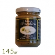 Estoublon mosterd met zwarte olijven 145gr